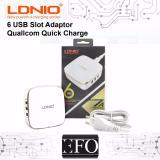 Adaptor Charger 6 Slot Usb Ldnio Quallcom Quick Fast Charging Original North Sumatra Diskon