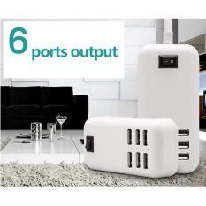 Colokan Charger USB 6 Port 20w EU Plug - Putih