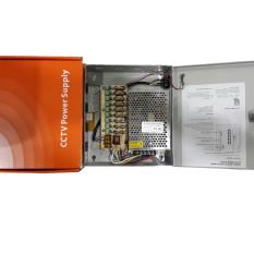 Harga Adaptor Power Supply 10 Amp Dc 12V Panel Box For Cctv System Fuse Original