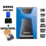 Toko Adata External Hdd 2Tb Usb 3 1 Adata Hd650 Antishock Waterproof Dustproof Ext Hdd Adata 650 Hardisk External Biru Gratis Case Hdd Bantal Travel Terlengkap