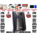 Harga Adata External Hdd 2Tb Usb 3 1 Adata Hd650 Antishock Waterproof Dustproof Ext Hdd Adata 650 Hardisk External Hitam Gratis Case Hdd 1Pcs Klip Kabel 2Pcs Penggulung Kabel 2Pcs Pengikat Kabel 2Pcs Spiral Pelindung Kabel 2Pcs Adata Baru