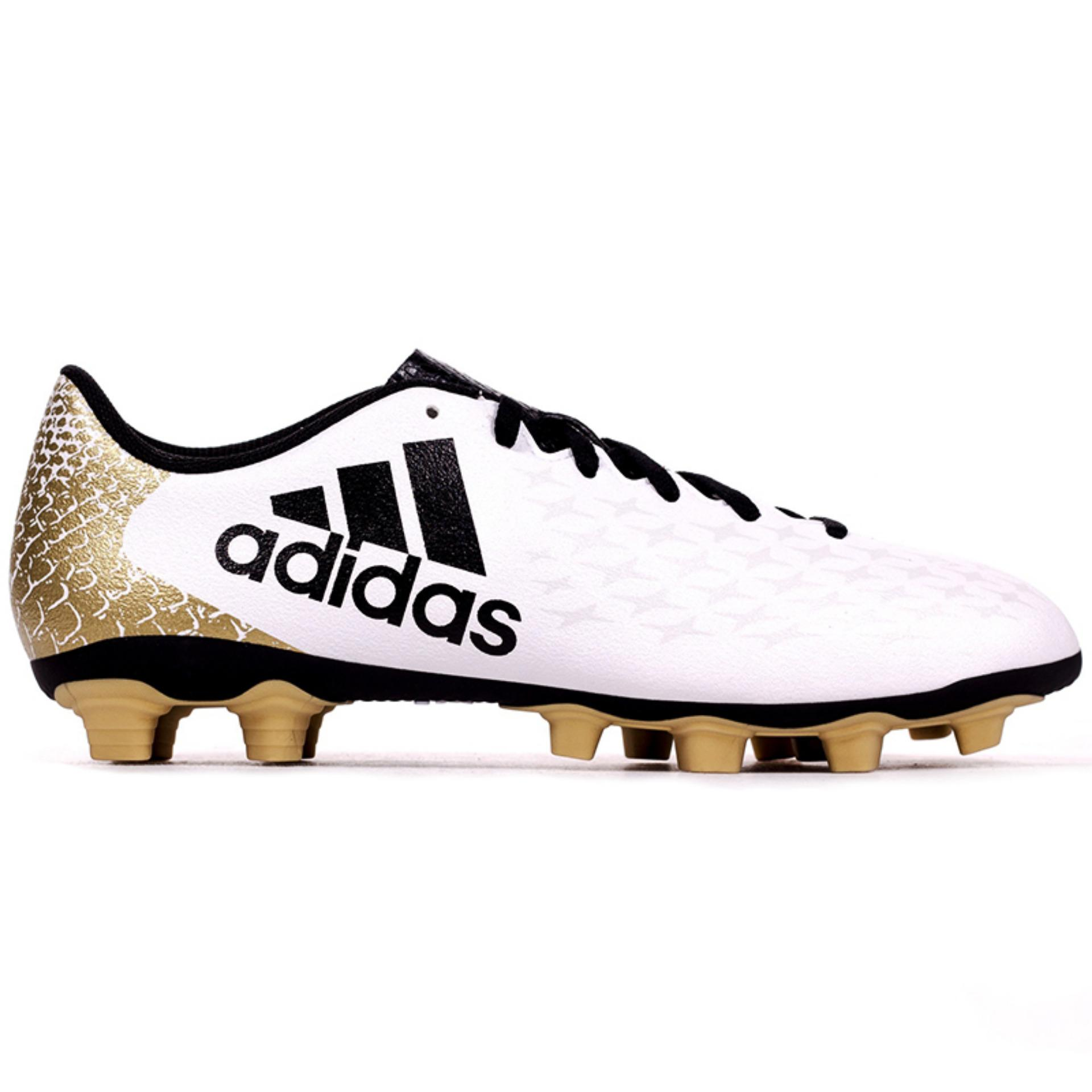 Adidas Original X 16.4 FXG White - Gold-AQ4355