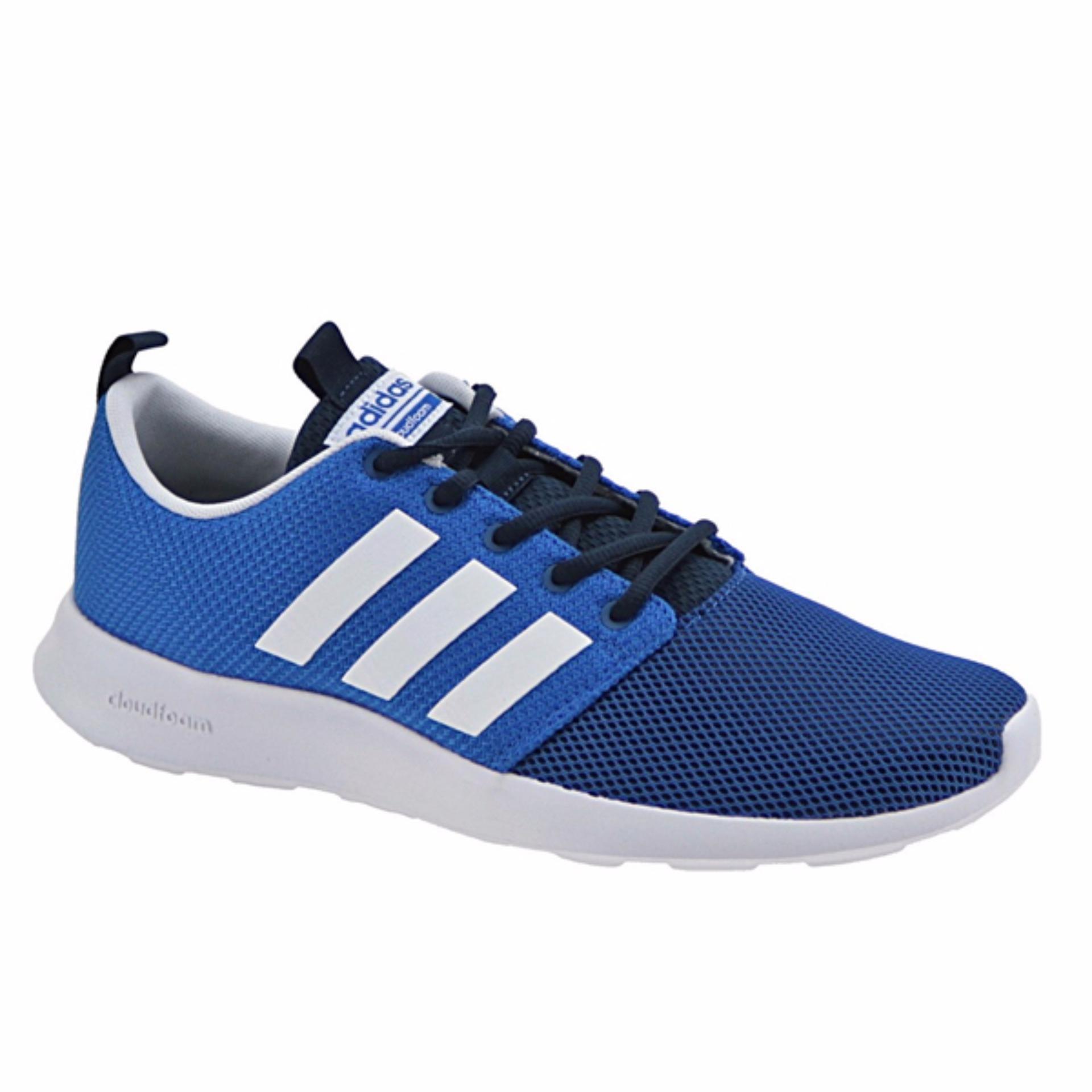 Beli Adidas Sepatu Running Cloudfoam Swift Racer Aw4155 Biru Adidas Online