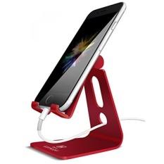 Ponsel Dapat Disesuaikan Berdiri Lamicall Aku Stan Telepon: [Update] Ayunan Dock Pemegang untuk Switch, iPhone 8X7 6 6 S PLUS 5 5 S 5C Pengisian Aksesoris Meja Kerja semua Android Smartphone-Merah-Intl
