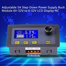 Adjustable DC-DC 5A Step-Down Power Supply Modul Buck 6 V-32 V untuk 0-32 V Layar LCD CC CV-Intl