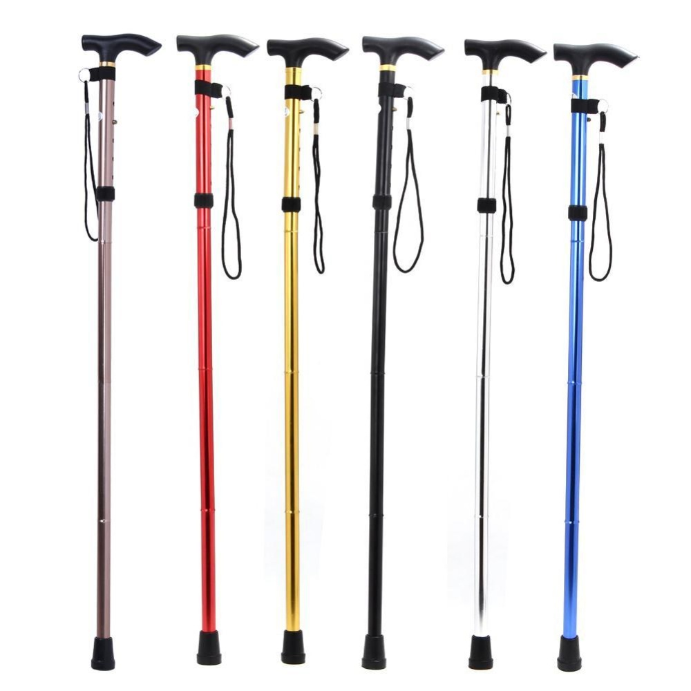Adjustable Foldable Walking Trekking Hiking Stick Cane Crutch Alpenstock Intl Vakind Diskon 50
