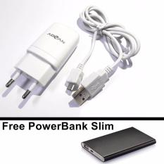 ADVAN AD-SSH Travel Charger + Free PowerBank Slim - Putih
