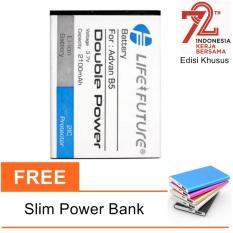 Advan Baterai B5 Double Power 2100mAh - White + Free Power Bank Slim 5500mAh