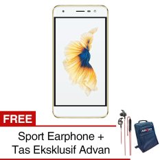 Beli Advan G1 4G Gold Free Sport Earphone Jelly Case Free Eksklusif Tas Advan Yang Bagus