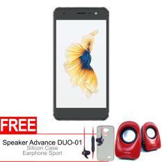 Advan Vandroid G1 3/32GB 4G - Grey + Gratis Speaker Advance DUO-01, Silicon Case & Earphone Original