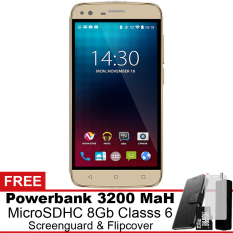 Harga Advan I5 4G Lte 8 Gb Gold Gratis Powerbank Micro Sdhc 8Gb Screenguard Flipcover Online Indonesia