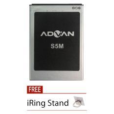 Advan Original Battery - Baterai Original Advan S5M - 2500 mAh + Free i-Ring Stand