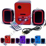 Jual Advance Duo 200 Multimedia Speaker With Remote Merah Advance