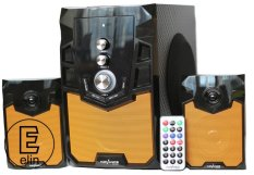 Harga Advance M310Bt Speaker Bluetooth Subwoofer System Hitam Orange Termurah