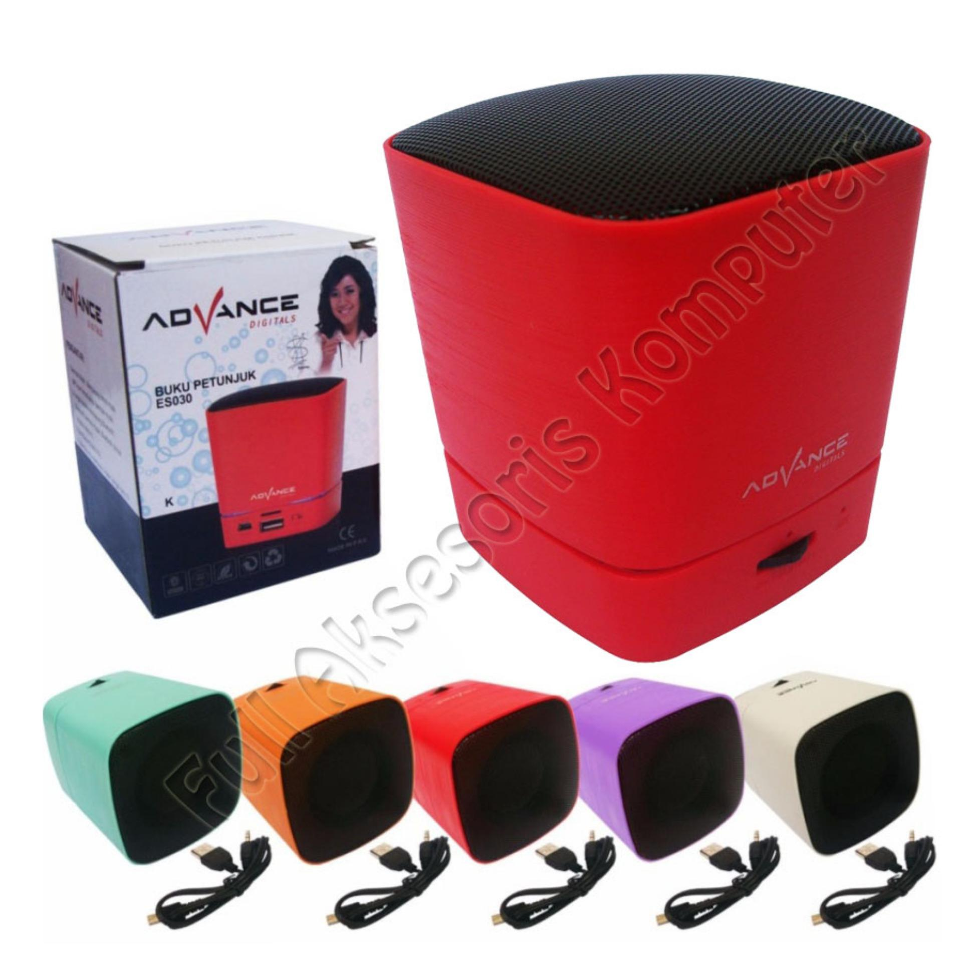 Beli Advance Mini Speaker Portable Bluetooth Es030K Merah Cicil