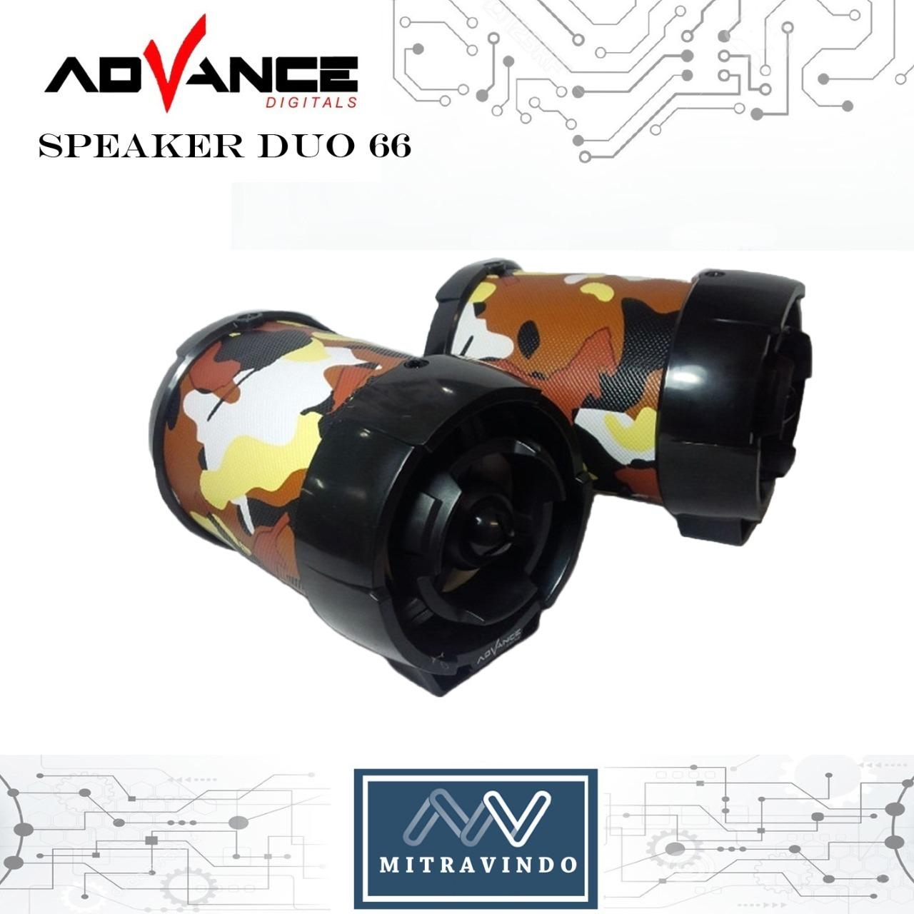 Shock Price Advance Speaker Portable Xtra Power Sound Duo-066 best price - Hanya Rp60.014