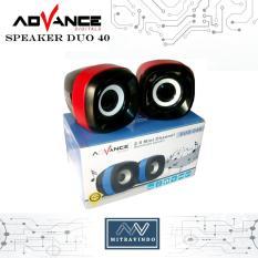 Advance Speaker USB Multimedia Duo 40 - New