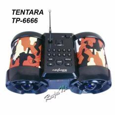 Advance Tp-666 Speaker Tentara Portable Plus FM Radio and LED Digital - COKLAT