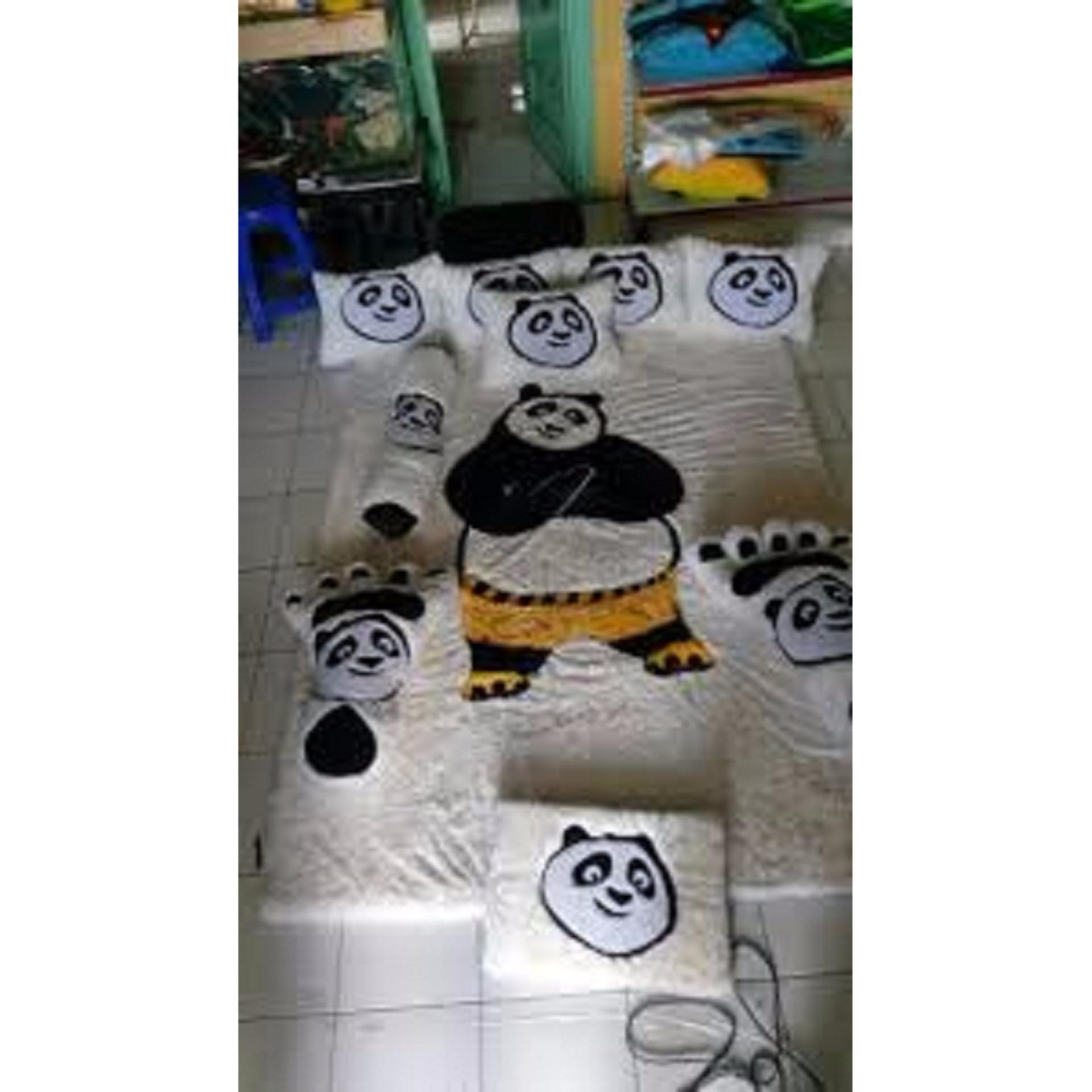 adzkia35 Kasur Karpet Karakter panda fullset