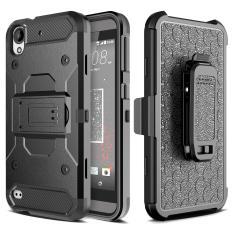 [Aegis Series] Heavy Duty Rugged Full-Body Armor Holster [Belt Swivel Clip [Kickstand] untuk HTC Desire 530/630/626/626 S/625-Internasional