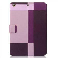 Ahha Dual Color Plus Flip Case Sykes Mix 2 For iPad Mini 3 - Red-Purple