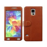 Toko Ahha Joy Magic Flip Cover Casing For Samsung Galaxy S5 Terracota Termurah