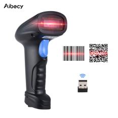 Aibecy Handheld 2.4G Nirkabel 1D/2D/Pemindai Kode Batang QR Bar Pembaca Kode dengan Penerima USB 4000 Kode Kapasitas Penyimpanan untuk Pos PC Android IOS