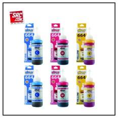 Paket Hemat 6 Botol Tinta Aiflo Epson 664 L100 L200 L350 100ml