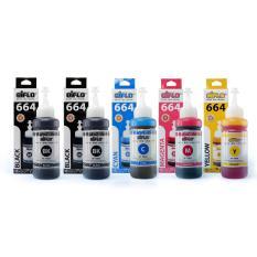 Aiflo 664 Paket Kombinasi 5 Tinta Printer For Epson  L100 L200 L350 - 100ml