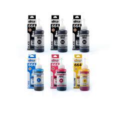 Aiflo 664 Paket Kombinasi 6 Tinta Printer For Epson  L100 L200 L350 - 100ml