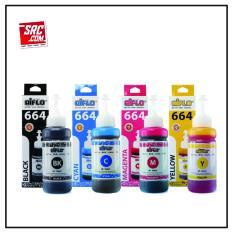 Paket Hemat 4 Botol Tinta Epson 664 Aiflo L100 L200 L350 100ml
