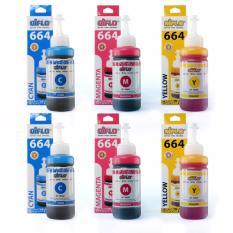 Tinta Epson Aiflo 664 Paket Spesial Color Untuk Printer Epson L200 L350 -100ml