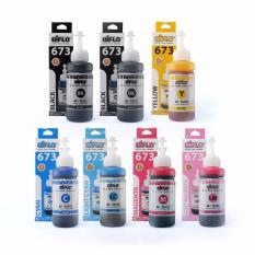 Harga Aiflo 673 Paket Kombinasi 7 Botol Untuk Printer Epson L800 L1800 Baru Murah