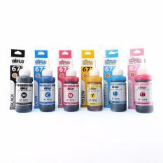Aiflo 673 Paket Komplit 6 Tinta Untuk Printer Epson L800 L805 L1800