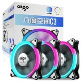 Jual Aigo C3 Rgb Fan 120Mm Colorful Case Cooling Fan Dengan Fan Controller Adjustable Led Ring Air Cooler Fan 12 Cm Intl Import