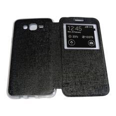 Aimi Flip Cover Samsung Galaxy J7 Core Hitam / Leather Case Samsung Galaxy J7 Core View / Flipcover Windows View / Wallet Phone Bag / Sarung Case / Case Hp / Casing Samsung J7 Core - Black