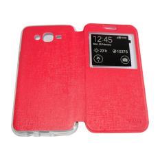 Aimi Flip Cover Samsung Galaxy J7 Core Merah / Leather Case Samsung Galaxy J7 Core View / Flipcover
