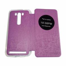 Aimi Flipcover For Asus Zenfone Laser Ukuran 5.5 inch ZE550KL Flipshell / Leather Cae  - Ungu