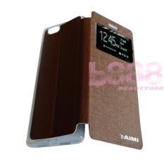 Aimi Oppo R1X / Oppo R8207 / Oppo 8201 Flipshell / Flipcover Oppo R1X / Leather Case / Sarung Handphone / Sarung HP Oppo - Coklat