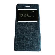 Aimi Leather Case Sarung Untuk Samsung Galaxy J2 Prime Flipshell/Flipcover - Biru Tua