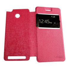 Aimi Leather Case Sarung untuk Xiaomi Redmi 3 Pro Flipshell-Flipcover - Pink
