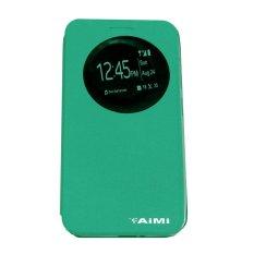 Aimi Leather Case Sarung Untuk Zenfone 5 2014 A500CG Flipshell/Flipcover - Hijau tosca