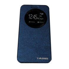 Aimi Leather Case Sarung Untuk Zenfone C ZC451CG Flipshell/Flipcover - Biru tua