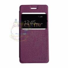 Aimi Leather Case Untuk Smartfren Andromax L Flipcover / Flipshell / Sarung Case - Ungu
