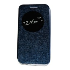 Aimi Leather Cover for  Asus Zenfone 3 5.2 inch ZE520KL / Flipshell / Flip Cover Asus Zenfone 3 5.2 inch ZE520KL / Leather Case Asus Zenfone 3 5.2 inch ZE520KL / Casing Asus Zenfone 3 5.2 inch ZE520KL / Case Zenfone 3 5.2 inch - Biru Tua