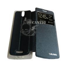 Aimi Oppo R3007 / Oppo Mirror3 / Oppo Mirror 3 Flipshell Oppo Mirror 3 / Flip Cover / Leather Case / Sarung Case / Sarung Handphone - Biru Tua