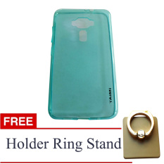 AIMI Ultrathin Soft Case (Anti Jamur) For Asus Zenfone 3 / ZE520KL - Biru Muda + Gratis Holder Ring Stand Up (Warna Universal)