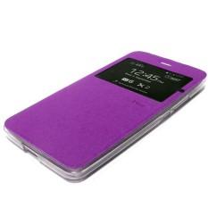 Aimi ume Lenovo k3 A6000 a6010 Flip Shell Flip Cover dompet sarung flip buku lenovo a6000 k3 - ungu