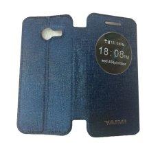 Aimi Untuk Asus Zenfone 4 Flipshell / Flipcover / Sarung Case - Biru Tua