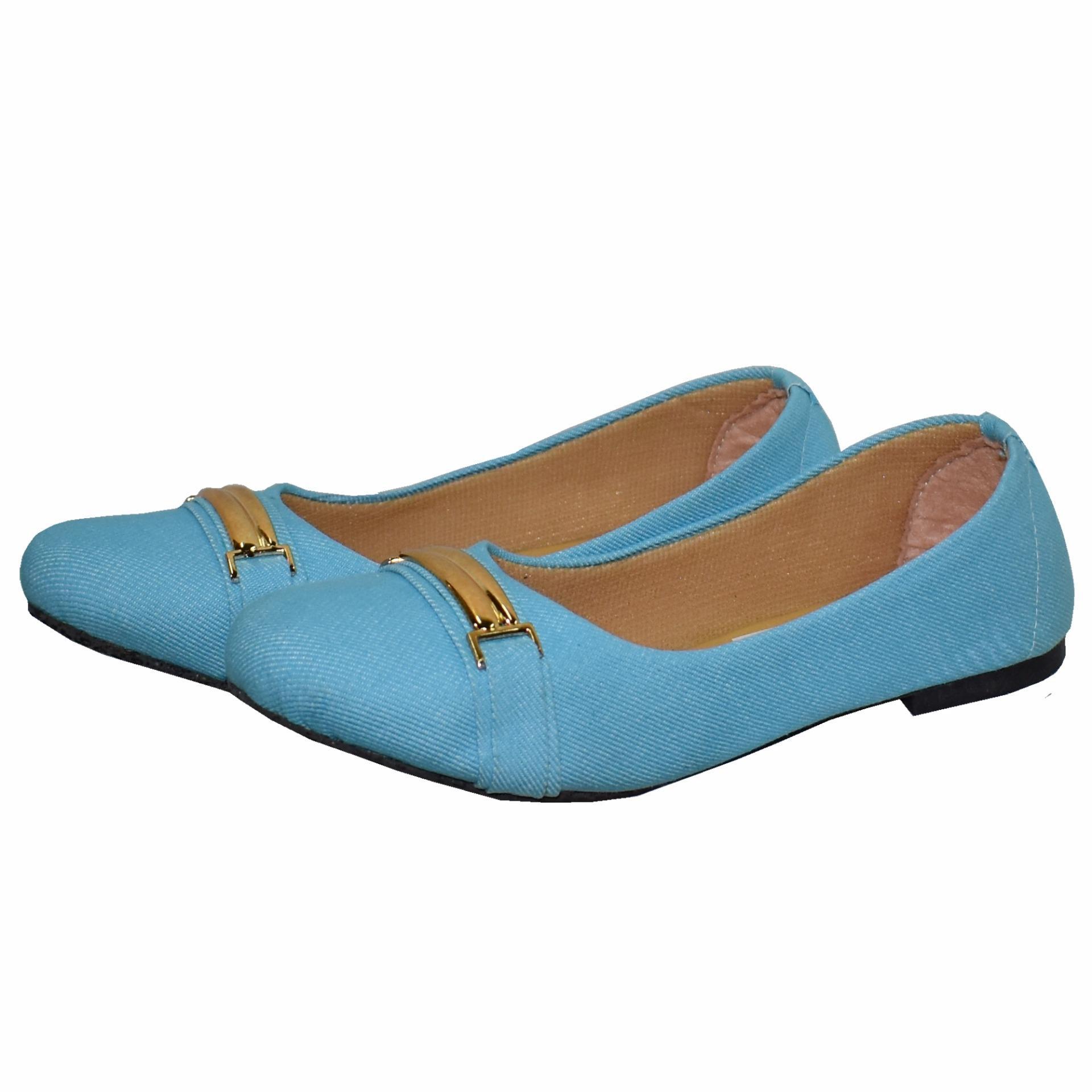 Woman Choice Flat Shoes Develop 12 - Sepatu Balet - Abu-Abu Free Sandals.